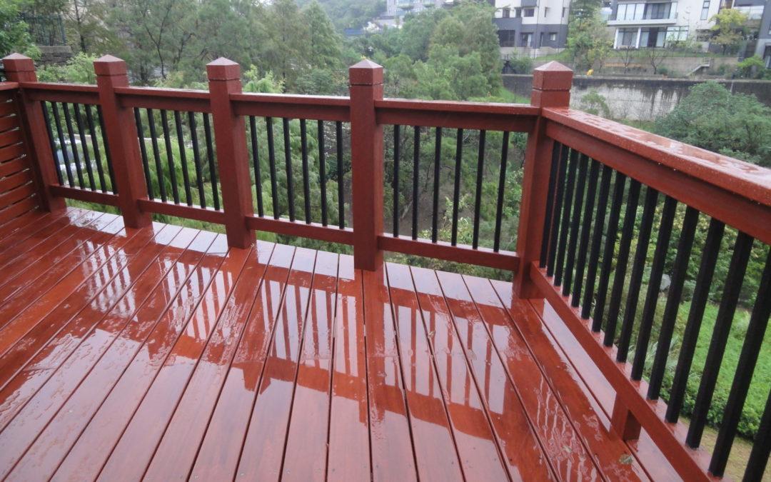 景觀平台-青山鎮私宅景觀木平台、欄杆