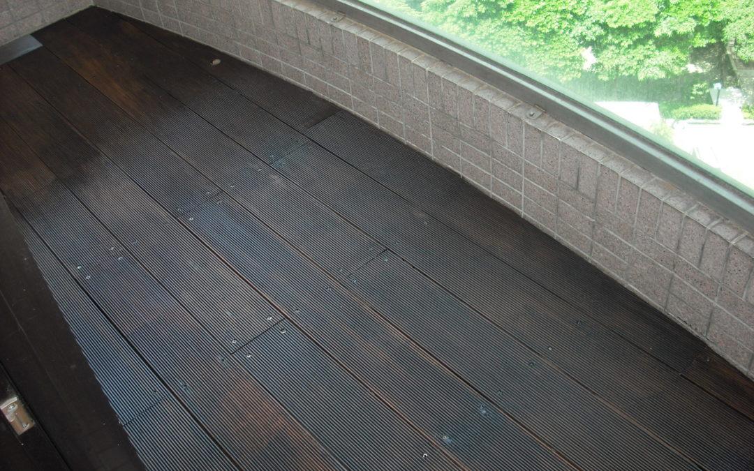 天母私宅鐵木陽台地板