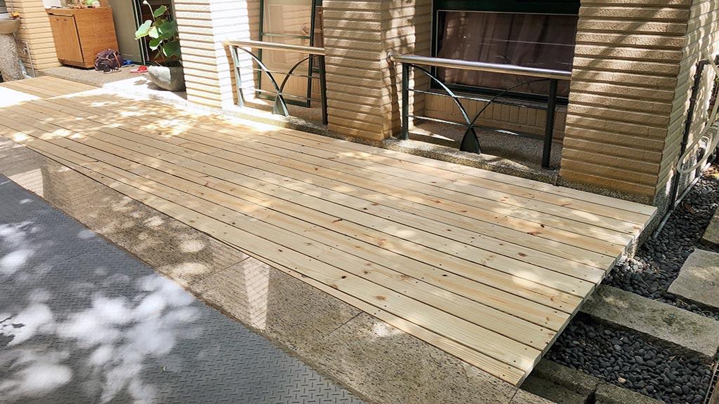 庭院地板-木柵岫臻庭園南方松地板