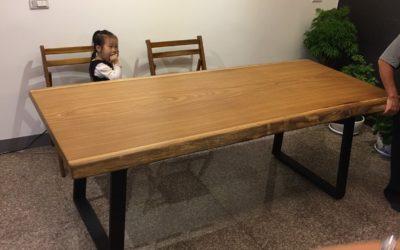 非洲柚木原木桌板